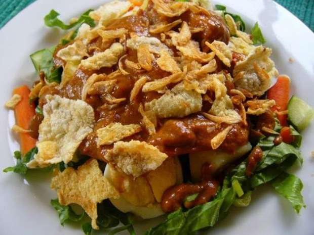 Gado gado bango for Authentic indonesian cuisine